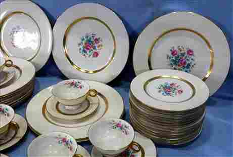66 piece set of Haviland fine china with roses