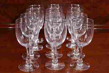Set of 15 signed Fostoria wine glasses
