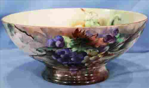 T&V France hand painted punch bowl