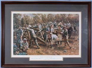 Civil War Print, Devil on the River, 28 x 38