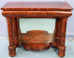 Empire flame mahogany pier table with columns