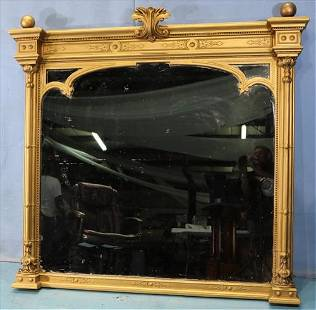 Gold gilded Victorian over the mantle mirror