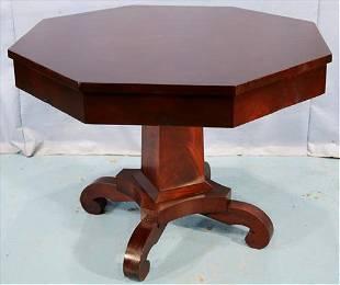 Mahogany Empire octagon center table