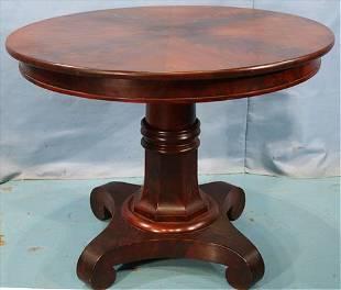 Empire mahogany round center table
