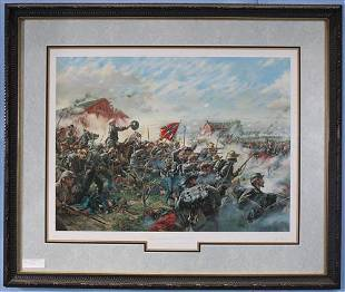 Civil War Print, Barksdale's Charge, 33 x 39