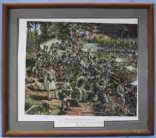 Civil war print, Holding the Position, 26 x 29.5