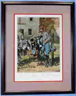 Civil War Print, WA Artillery of N. Orleans, 25.5 x 20