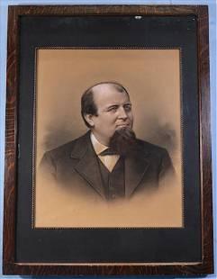 Charcoal portrait of gentleman, 43 x 33