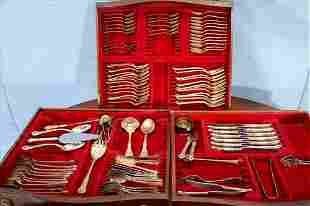 80 pc. set of Chantilly sterling silver flatware