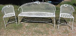3 piece garden set, settee and 2 chairs