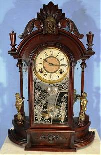 Ansonia Victorian mantle clock with figures
