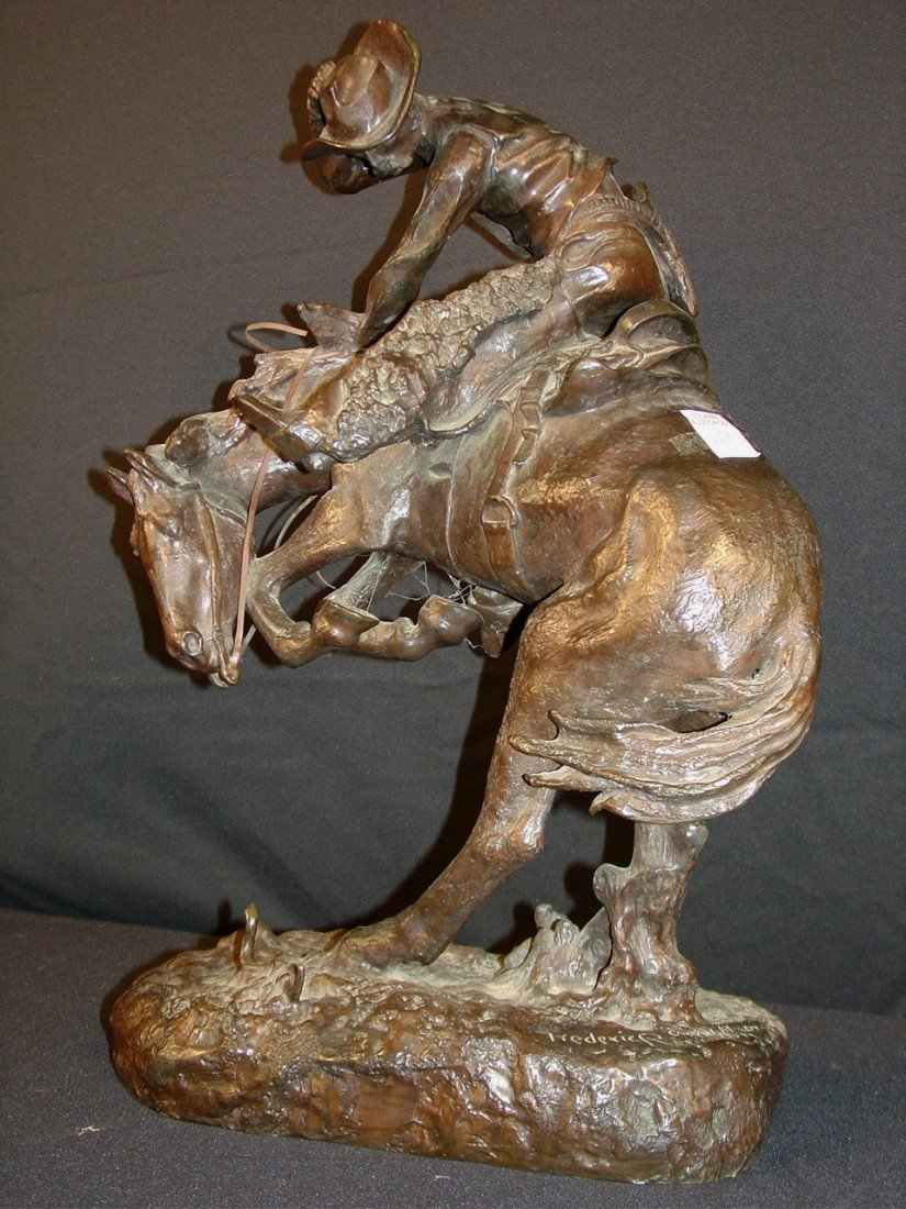 101: Bronze Bust of Bronk Rider by Frederic Remington,