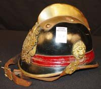 104: Germans fireman's leather Military Helmet, gold Co