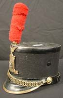 105: New York State Militia Felt and Leather Shako Hat
