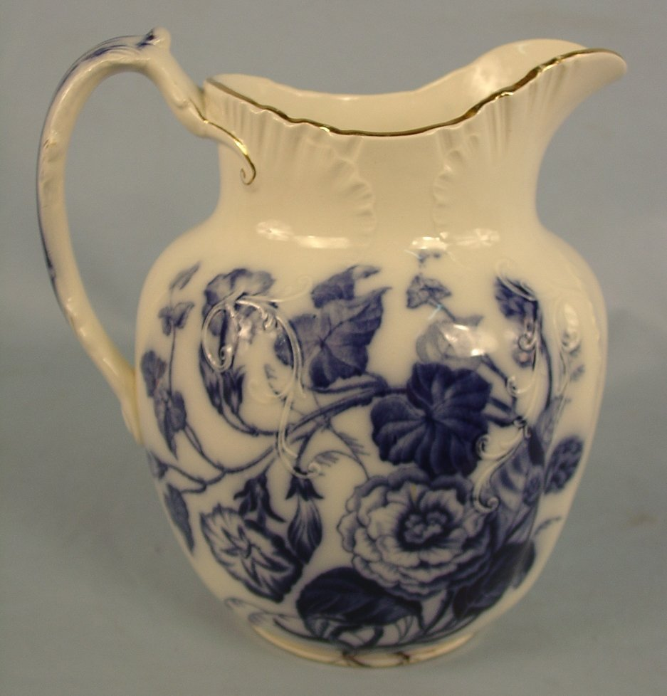 6: Flow Blue Pitcher, Thomas Hughes & Son, 11in. T, 10i