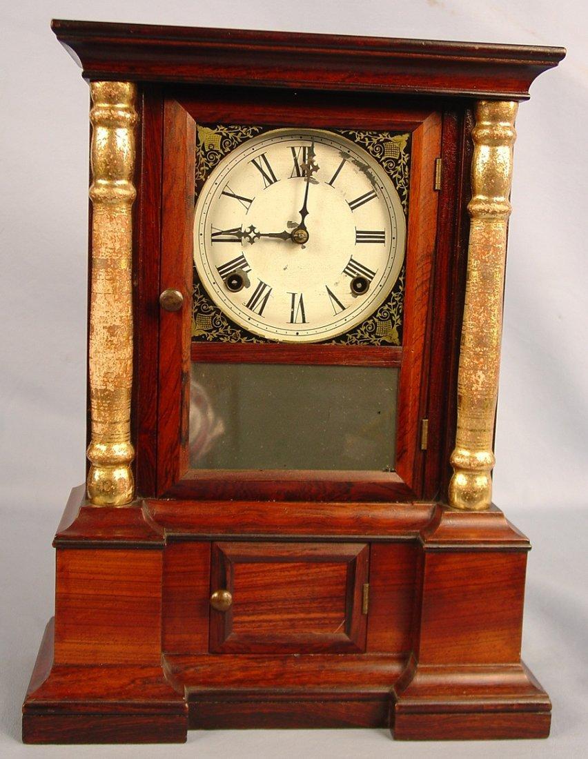 17: Atkins London Rosewood Clock, 17in. T, 13in. W., ca