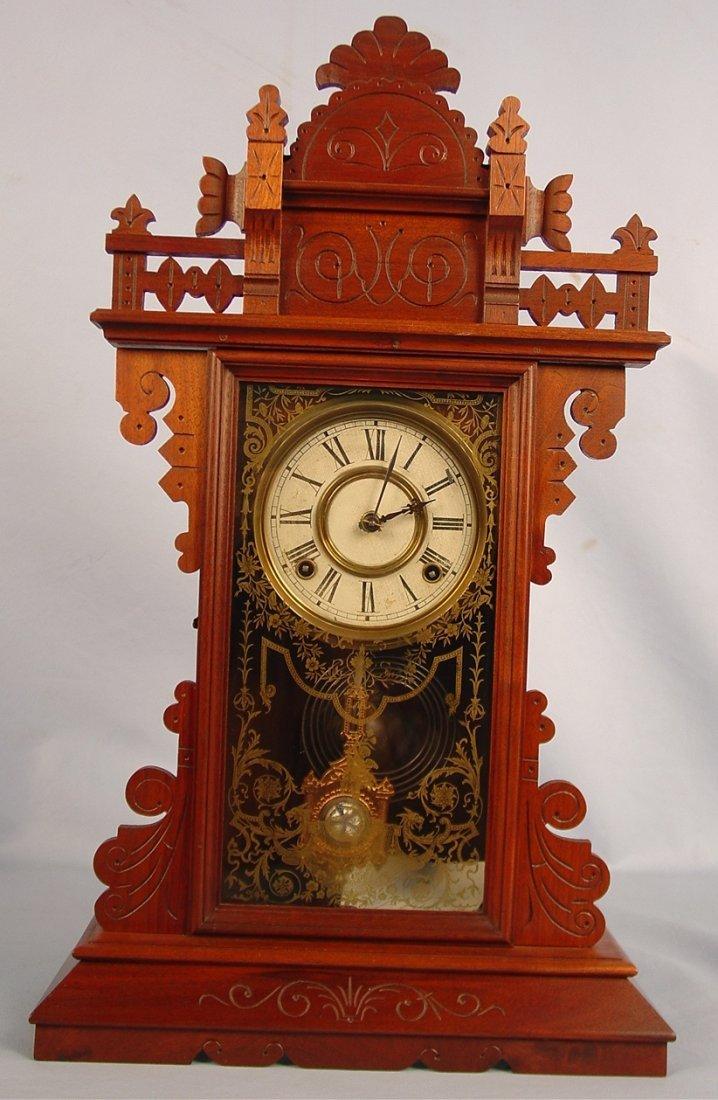 20: Welch Fedora Clock, 25in. T, 15in. W