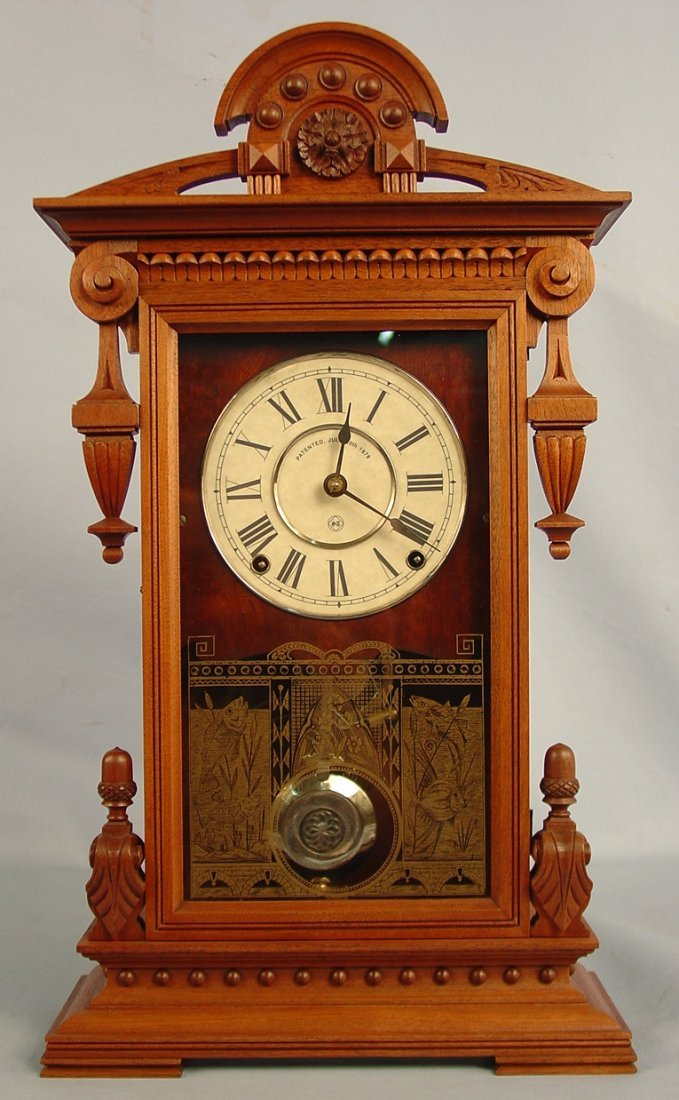 22: Seth Thomas Concord Clock, 22in. T, 12in. W, excell