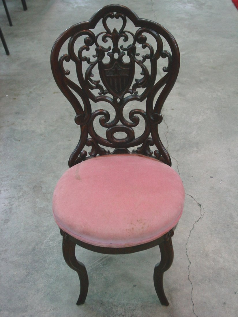Rosewood Rococo Laminated Youth Chair