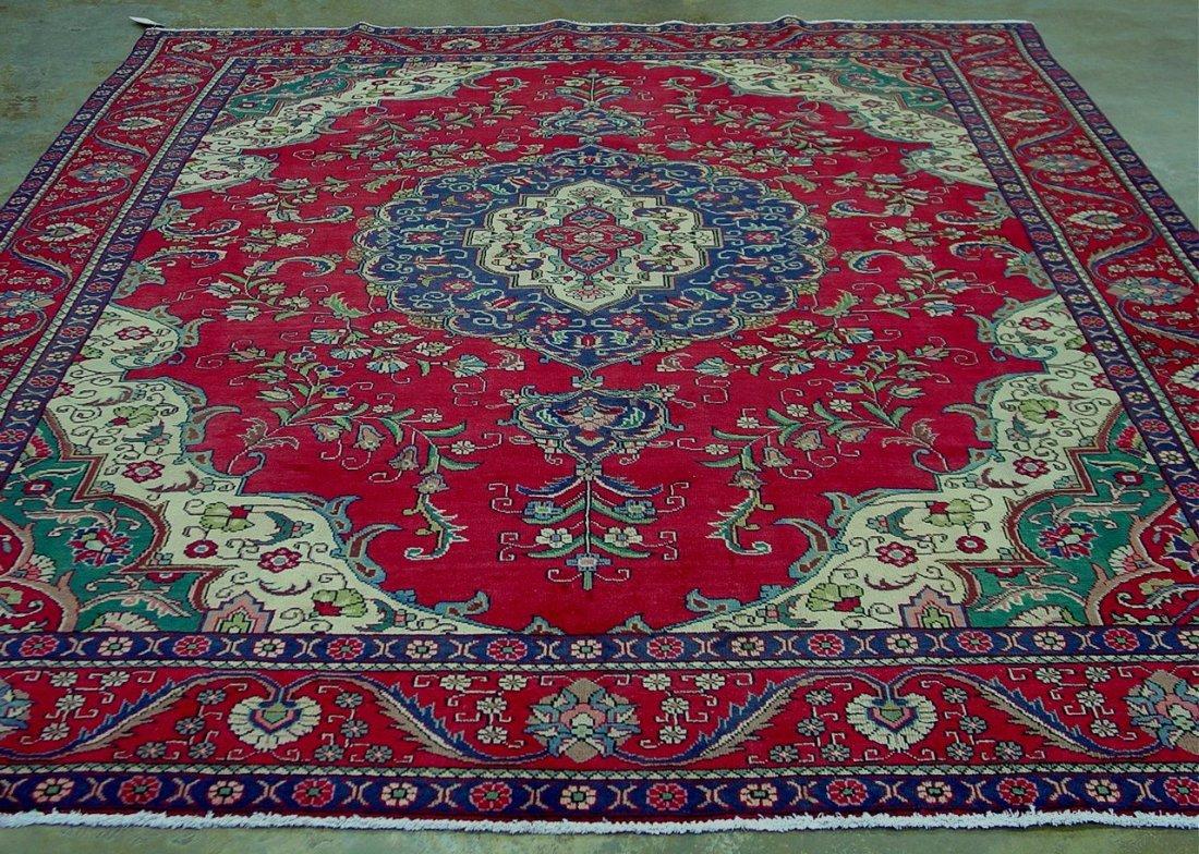 9: Hand made Persian rug made in Iran, burgandy,