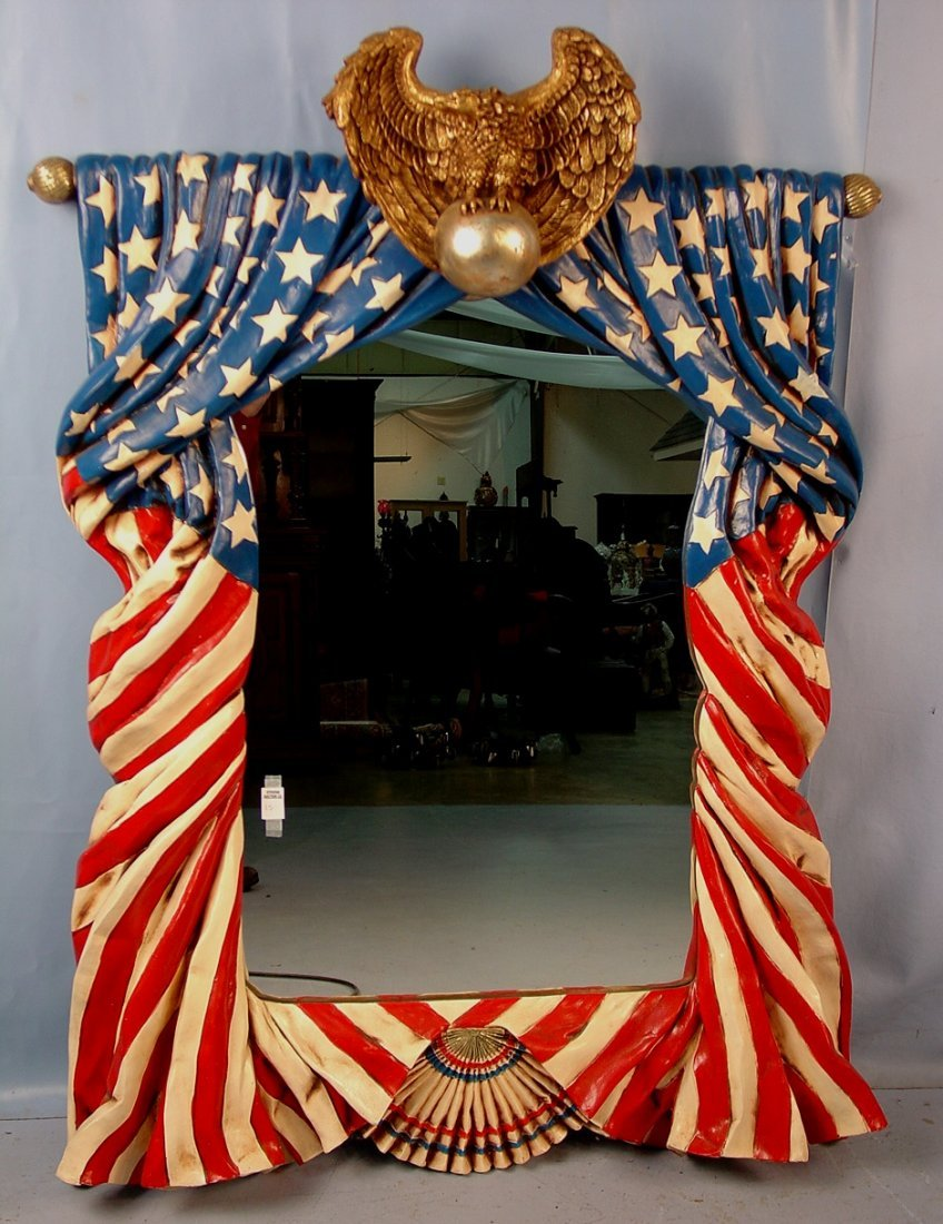 15: American flag mirror