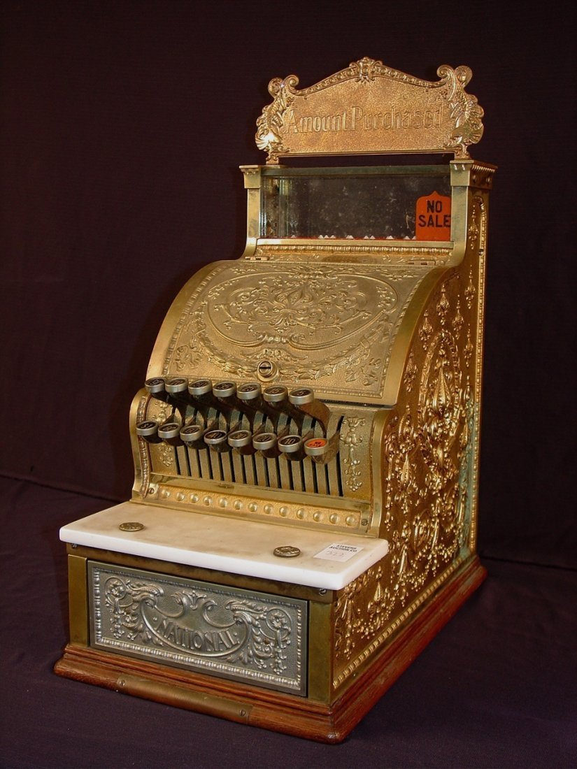 322: National candy store size cash register in good
