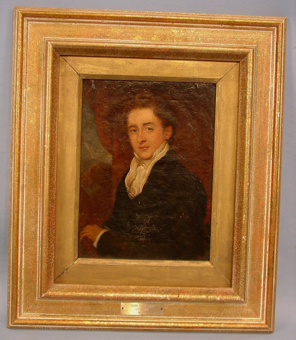406: Early oil on canvas, portrait of John Constable,