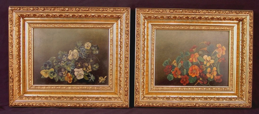 308: Pair of 19th Century of oil on artist board of