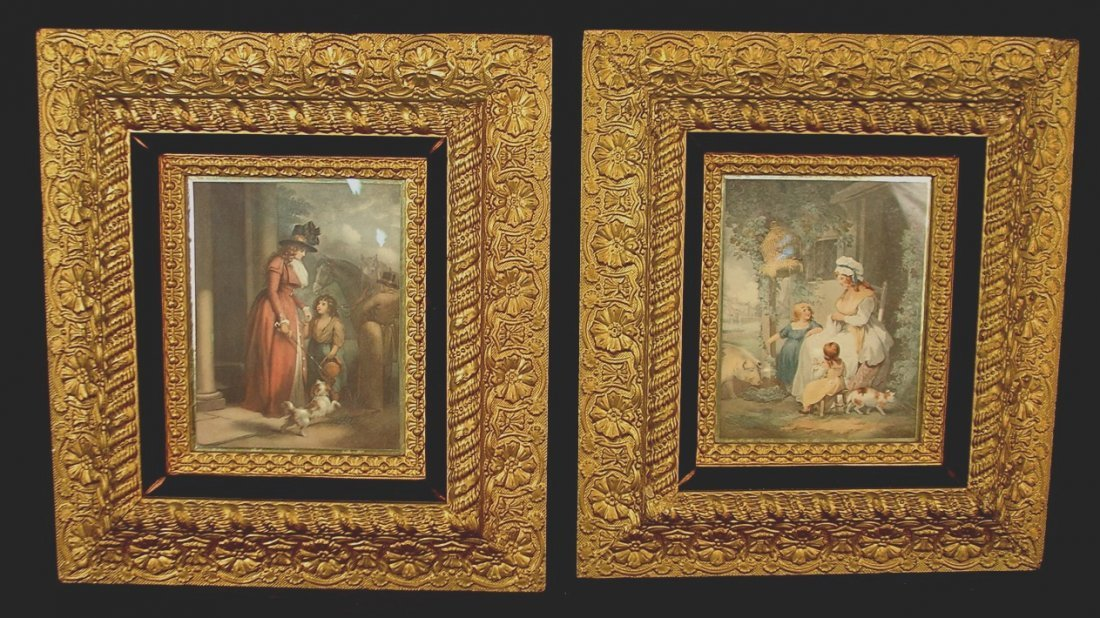 309: Matched pair of Victorian prints in outstanding