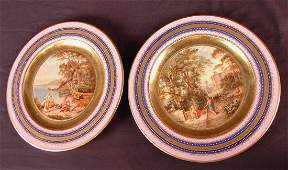 323 Pair of royal Vienna cabinet plates with Greek