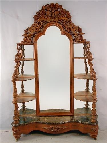 104: Rosewood etagere by J. H. Belter, Rosalie pattern,