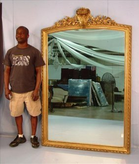 Over the mantle mirror, Victorian gold leaf with rope