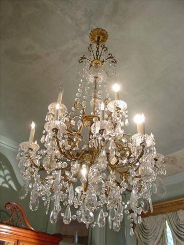 French bronze chandelier ca 1870, incredible piece with