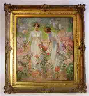 Oil painting Hamilton-Hamilton 1847-1928 ca 1900