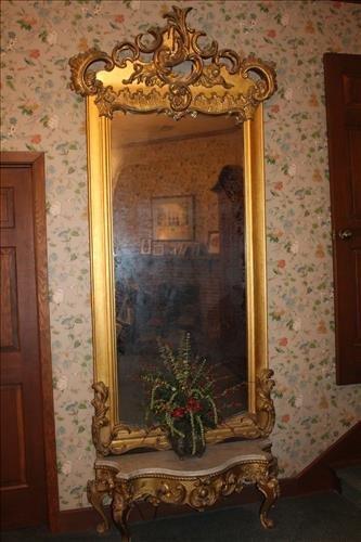 Victorian gold pier mirror