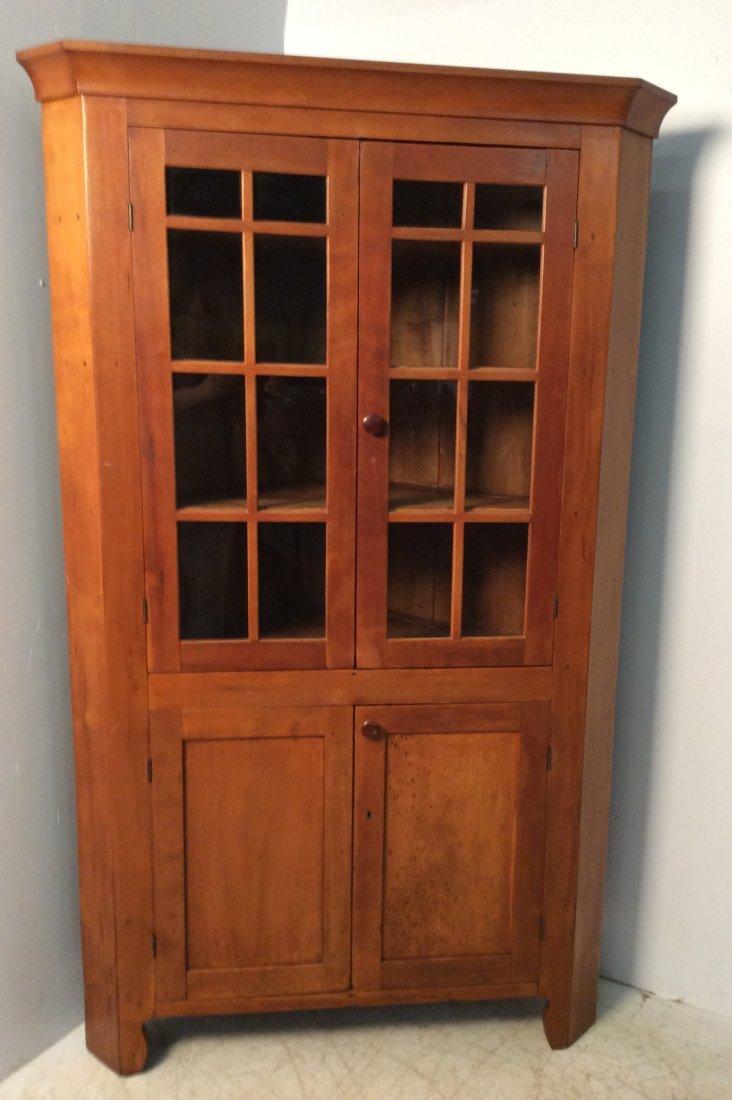 Primitive Cherry Corner Cabinet