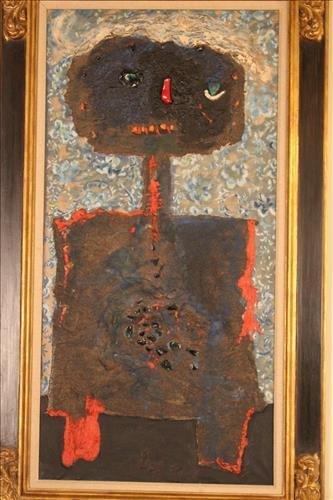 Enrico Baj oil painting