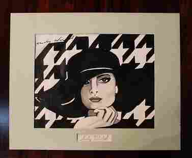 Original oil on canvas of Coco Chanel by Warhol