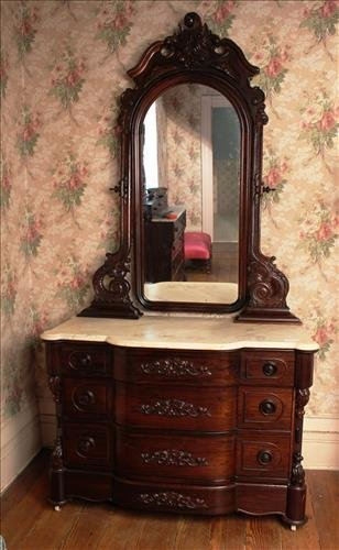 Rosewood dresser matching  4 pc. Mallard