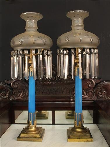 Matched pair of mint condition sinumbra lamps
