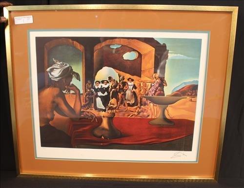 "Lithograph by Salvador Dali, ""Slave Market"""