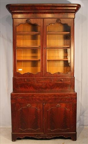 Mahogany Empire secretary with block front