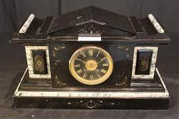Marble Victorian mantle clock made by Hyman