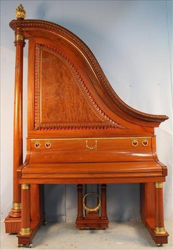Late Victorian incredibly colossal giraffe piano