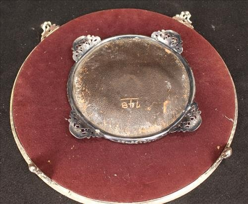2 piece silver over copper plateau mirrors, Lg. is 15 - 3