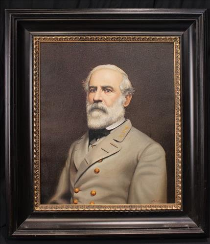 Contemporary oil on canvas of R.E. Lee