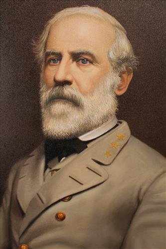 Contemporary oil on canvas of R.E. Lee - 2
