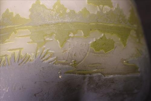 6 pieces of acid etched art glass - 3