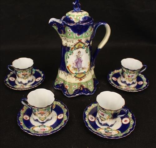 9 piece tea set with lady