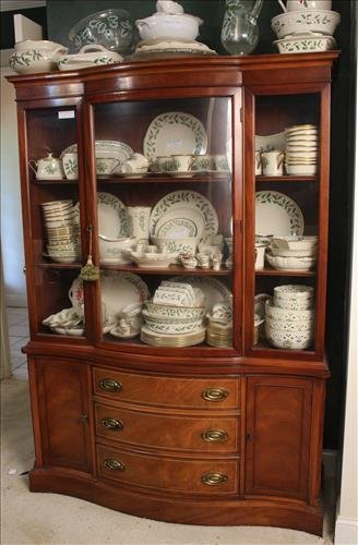 Duncan Phyfe style 3 drawer, 2 door china cabinet